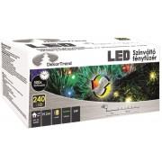 Kültéri színváltó fényfüzér 240 db LED 19,2 m KDM 242