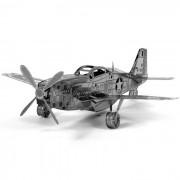 DIY 3D rompecabezas montado modelo mustangos de juguete - plata