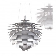 Lámpara artic 60 cms de diámetro fabricada en aluminio de color plat