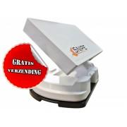Selfsat SNIPE Plus automatische schotel met bevestigingsplaat