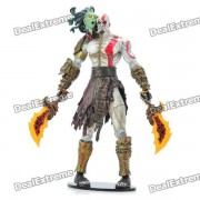 God of War 2 Doll Accion Toy figura PVC Display - Kratos con la cabeza de Medusa