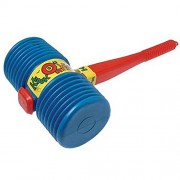 One Assorted Color Giant Squeaky Circus Carnival Clown Hammer