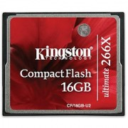 Kingston Ultimate 16 GB 266x CompactFlash Memory Card CF/16GB-U2