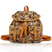 Batoh LS00270 - Beige Oilcloth Owl Design Rucksack