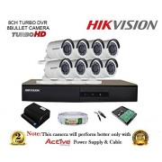 HIKVISION 8CH-DS-7208HGHI-E1-Turbo-HD-720P-DVR + HIKVISION DS-2CE16COT-IR TURBO BULLET CAMERA 8pcs + 1TB HDD + CABLE 3+1 COPPER + POWER SUPPLY (FULL COMBO)