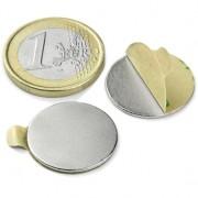 Magnet neodim disc cu autoadeziv, 20 mm, putere 1 kg