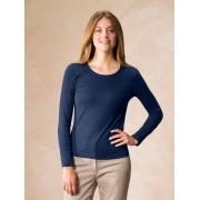 Walbusch Langarm-Shirt Rundhals Blau 52/54