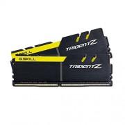 GSkill F4-3200C16D-32GTZKW Memoria RAM da 16 GB, DDR4, 3200 MHz, CL16, Kit 2 Pezzi, Nero