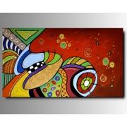 1 Quadro Arte Moderna Dipinto a Mano Coloratissimo