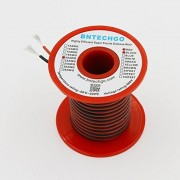 Bntechgo 20 Gauge Silicone Wire 50 Feet 2 Colors [25 Ft Black And 25 Ft Red] Soft And Flexible High Temperature Resistant Highly Efficient 20 Awg Silicone Wire 100 Strands Of Tinned Copper Wire