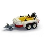 CUSTOM Modelo Barco inflable con remolque de piezas LEGO Piedras por ejemplo. para 10220 T1 Bus