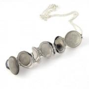 Zilveren Bal Medaillon voor 6 foto´s