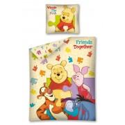 Lenjerie de pat Winnie the Pooh, friends together, 160x200cm