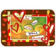 Caroline's Treasures Let Love Guide Your Heart Valentine's Day Glass Cutting Board PJC1113LCB