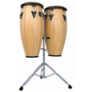 "Latin Percussion - LPA646AW Conga Aspire 10"" & 11"" Natural Wood- with Stand"