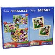 Clementoni 78035 - Puzzle Mickey Mouse Club House e Memo, 20 + 20 + 100 Pezzi