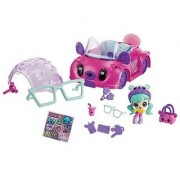 Betty Teddy Zoom Zooms Custom Car lets you change up how the car looks with a convertible top and stylish glasses!-Insi