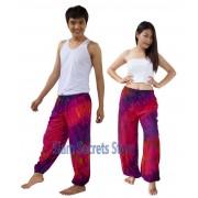 Pink Tie Dye Pants Rayon Hippy Beach Trousers Best Designs Unisex