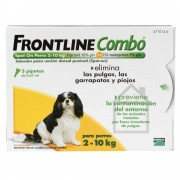 Frontline ® Combo spot-on para perros 2-10 kg - 3 pipetas