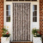 vidaXL Ресни за врата против насекоми, бежово и кафяво, 100 х 220 см