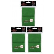 (300) Ultra Pro New Standard Size(66mm x 91mm) GREEN Deck Protectors Sleeves! 3 Factory Sealed 100ct Packs (#82693) with Ultra Pros Hologram Quality Seal of Durability! Stores and Protects Standard Size Gaming Cards including Magic the Gathering and Pokem
