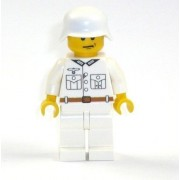 Soldado Ejército WW2 Figura blanco impresión alta calidad de piezas LEGO R1/R2/F65