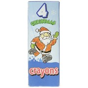 12 Boxes Christmas Crayons 4 Crayons Per Box Holiday Party Favor, Stocking Stuffer