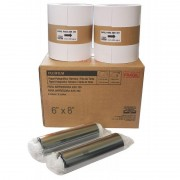 "Kit 2 Papeis e 2 Ribbon FujiFilm ASK 300 10x15"" - 800 Fotos"
