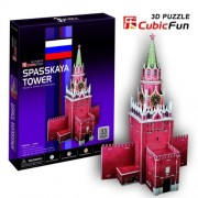 """CubicFun 3D Puzzle C-Series """"Spasskaya Tower - Moscow"""""""