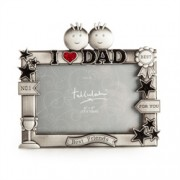 I Love You Dad Metal Photo Frame