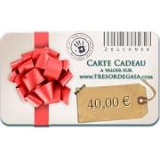 Carte Cadeau Bijoux de 40 euros