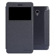 Nillkin Sparkle Leather Flip Stand Bumper Back Case Cover For Lenovo S860 - Black