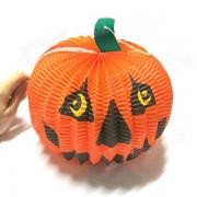 Halloween Paper Pumpkin Candle Lantern - Orange