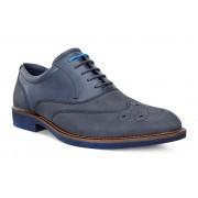 Pantofi business barbati ECCO Biarritz Wingtip (Albastri / Marine)