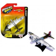 """Maisto Adventure Wheels Land-Sea-Air Tailwinds Series 1:226 Scale Die Cast United States Military Aircraft Replica - U.S. High Flying Long-Range Heavy Bomber AircraftB-17 FLYING FORTRESS with Display Stand (Dimension: 4"""" x 5-1/2"""" x 1"""")"""