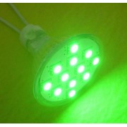 Spot cu 12x5050-SC, verde, MR16, 12V
