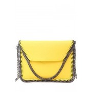 Zaful Candy Color Chains PU Leather Crossbody Bag