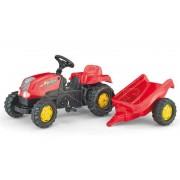 Traktor na pedale sa prikolicom crveni Rolly Toys