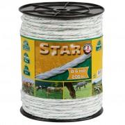 Kerbl Corde pour clôture électrique Star 200 m blanc-vert 6 mm 44538