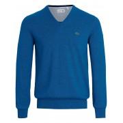 Lacoste V-Pullover aus 100% Baumwolle Lacoste blau