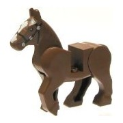LEGO Lord of The Rings Minifigure: Rearing Horse in Brown - King Theoden's Horse