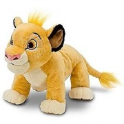Hard to Find Disney Lion King Adorable Baby Cub Simba 13 Inch Plush Doll Standing On All Fours - Super Cuddly and Soft