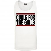 Curls for the girls Loose Tank white - Gorilla Sports