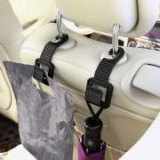 2 carlige depozitare scaun auto