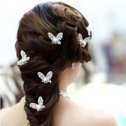 Mulheres Menina das Flores Liga Imitação de Pérola Capacete-Casamento Ocasião Especial Alfinete de Cabelo 4 Peças