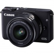 Canon EOS M10 18MP Wi-Fi Compact System Camera (Black) with 15-45 mm f