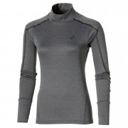 Asics Women's Lite Show Long Sleeve Neck Running Top - Dark Grey Heather - M
