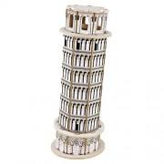 Happy Cherry 3D Puzzle Madera DIY Arquitectura Modelo Juguete Educativo Piezas Construcción Juego para Niño Niña - Torre inclinada de Pisa (Leaning Tower of Pisa)