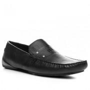 PORSCHE DESIGN Herren Schuhe Slipper Leder schwarz schwarz,schwarz