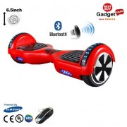 "6.5"" Red Bluetooth Segway with LED Arches"